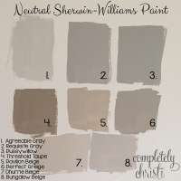 Neutral Sherwin Williams paint colors | Making Our House a ...