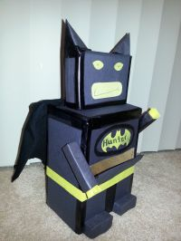 lego batman mailbox for valentines // made from box ...