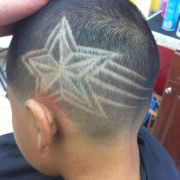 star design haircut fade