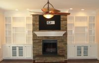 Shelves Around Fireplace on Pinterest | Bookshelves Around ...