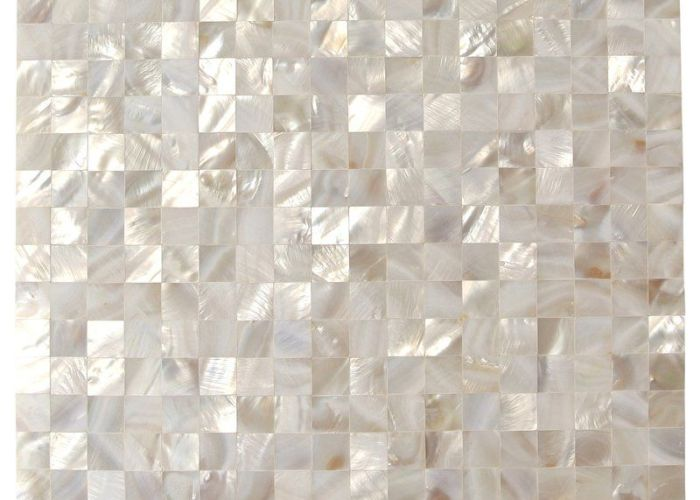 Splashback tile mother of pearl white square shell mosaic floor and wall in sample at the home depot mobile also lokahi  glass