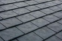 Recycled slate-style rubber roofing, made from tires. not ...