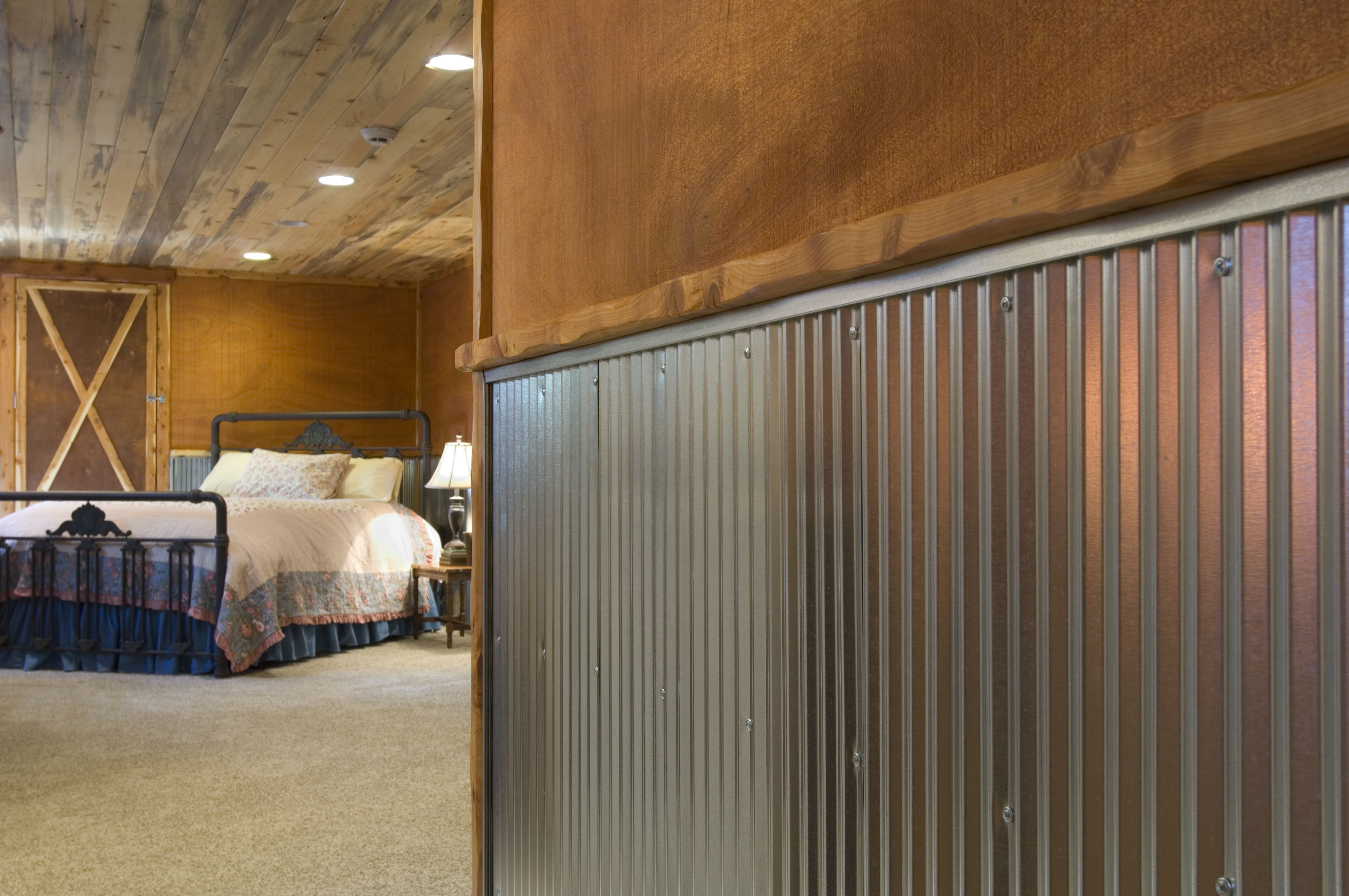 corrugated steel chair rail grey dining covers australia metal for interior walls wainscot 1 4