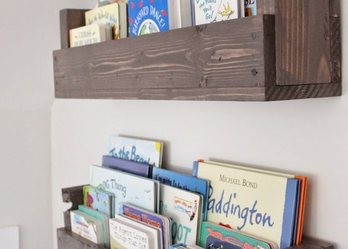 See how caitlin from the picket fence projects whipped up these rustic bookshelves also images about library on pinterest desks farmhouse style and
