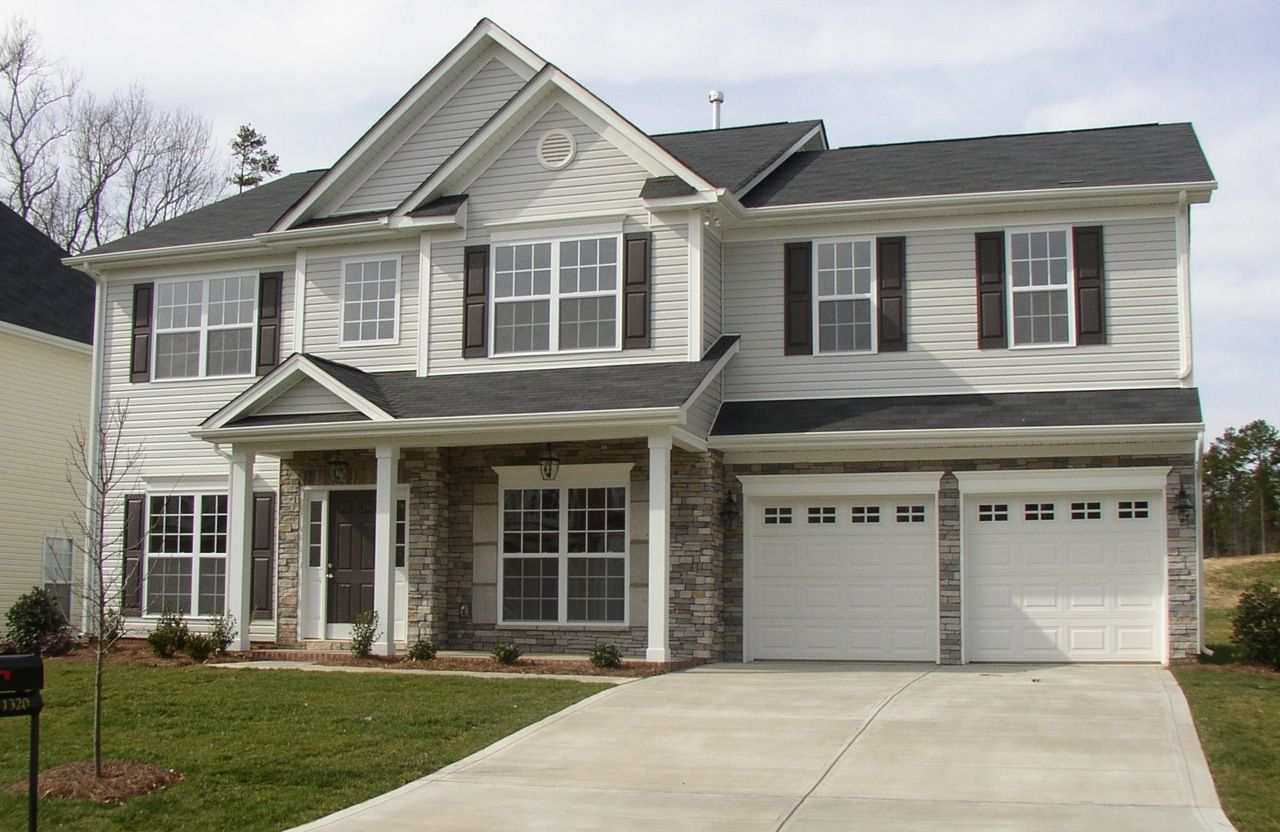 Color Scheme Light Gray Siding White Garage Doors And Trim Gray