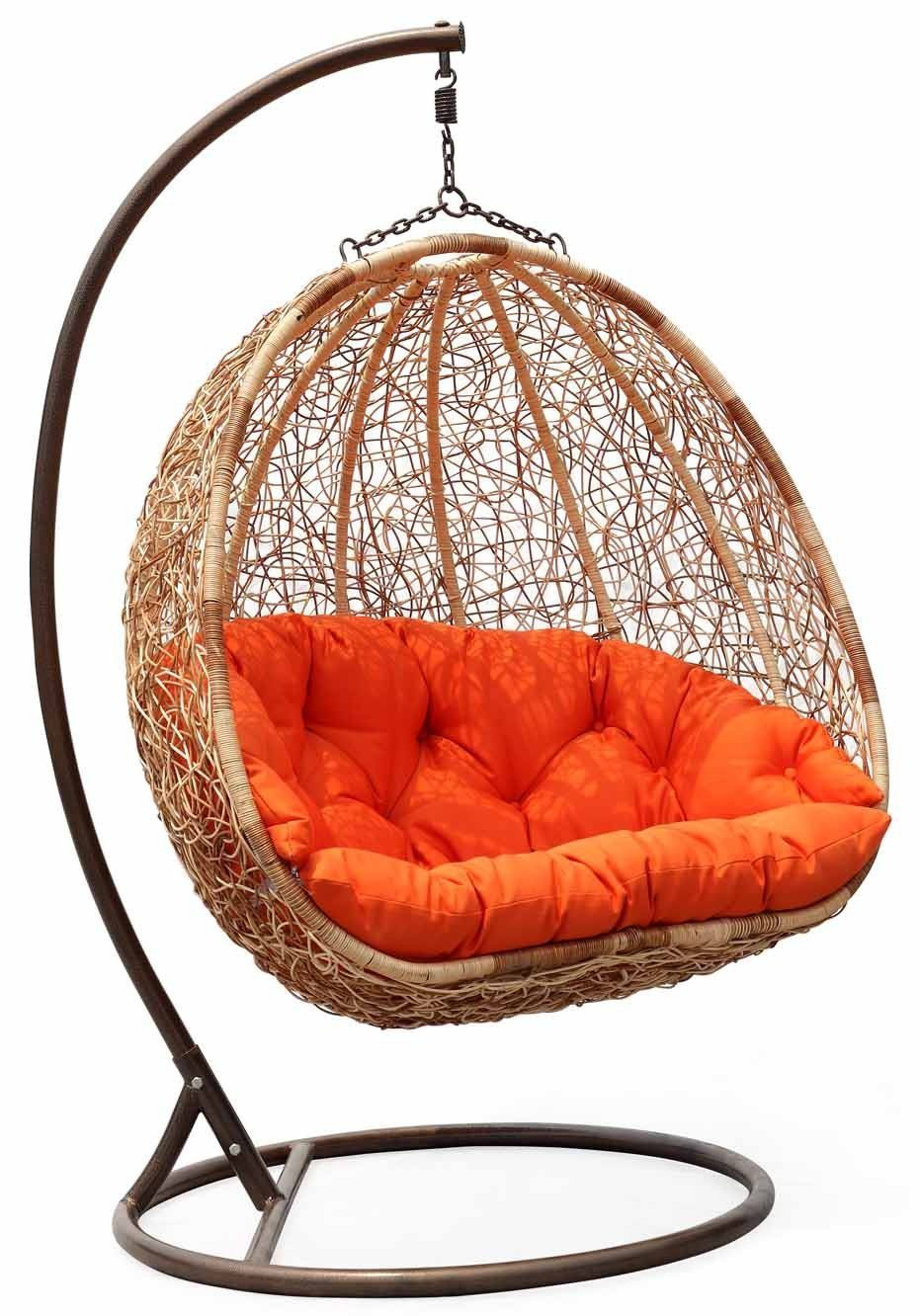 hanging chairs with stand for bedrooms lazy boy price wicker swing chair orange cushion | pretty things home pinterest good books ...