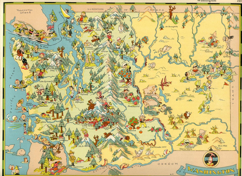 Washington State Travel Map