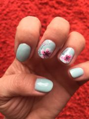 fun spring manicure 2015.gel