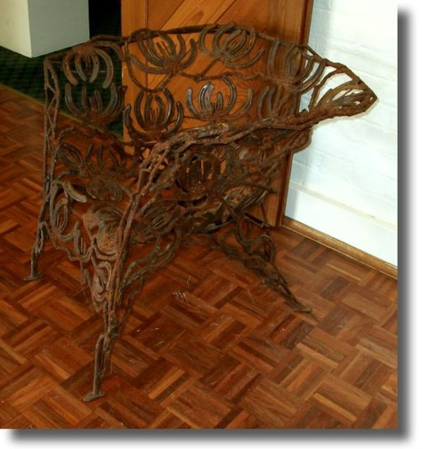 Furniture Made From Horseshoes