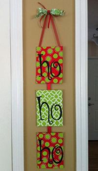 christmas door decorations | Homemade Christmas Door ...