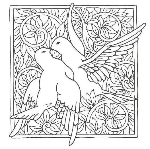 Find stained glass patterns in the Arts & Crafts movement