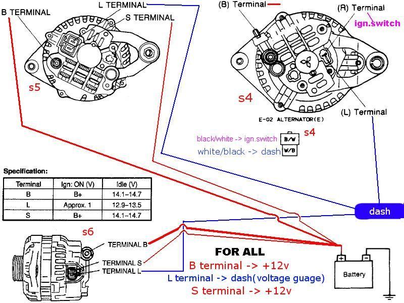 Alternator Wiring HELP!!! RX7Club Com RX7 Turbo II Pinterest