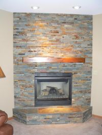 images fireplace slate tile | On The Level Home Remodeling ...