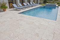 Beautiful Travertine Pavers For Patio And Garden Design ...