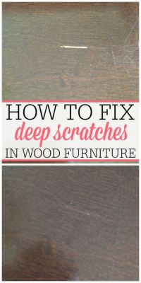 How To Fix Deep Scratches in Wood | Wood furniture, Woods ...