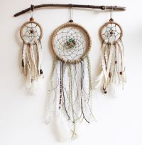 "Bohemian Dream Catcher, Earth Tones, 3"" or 5"", Wall Decor"