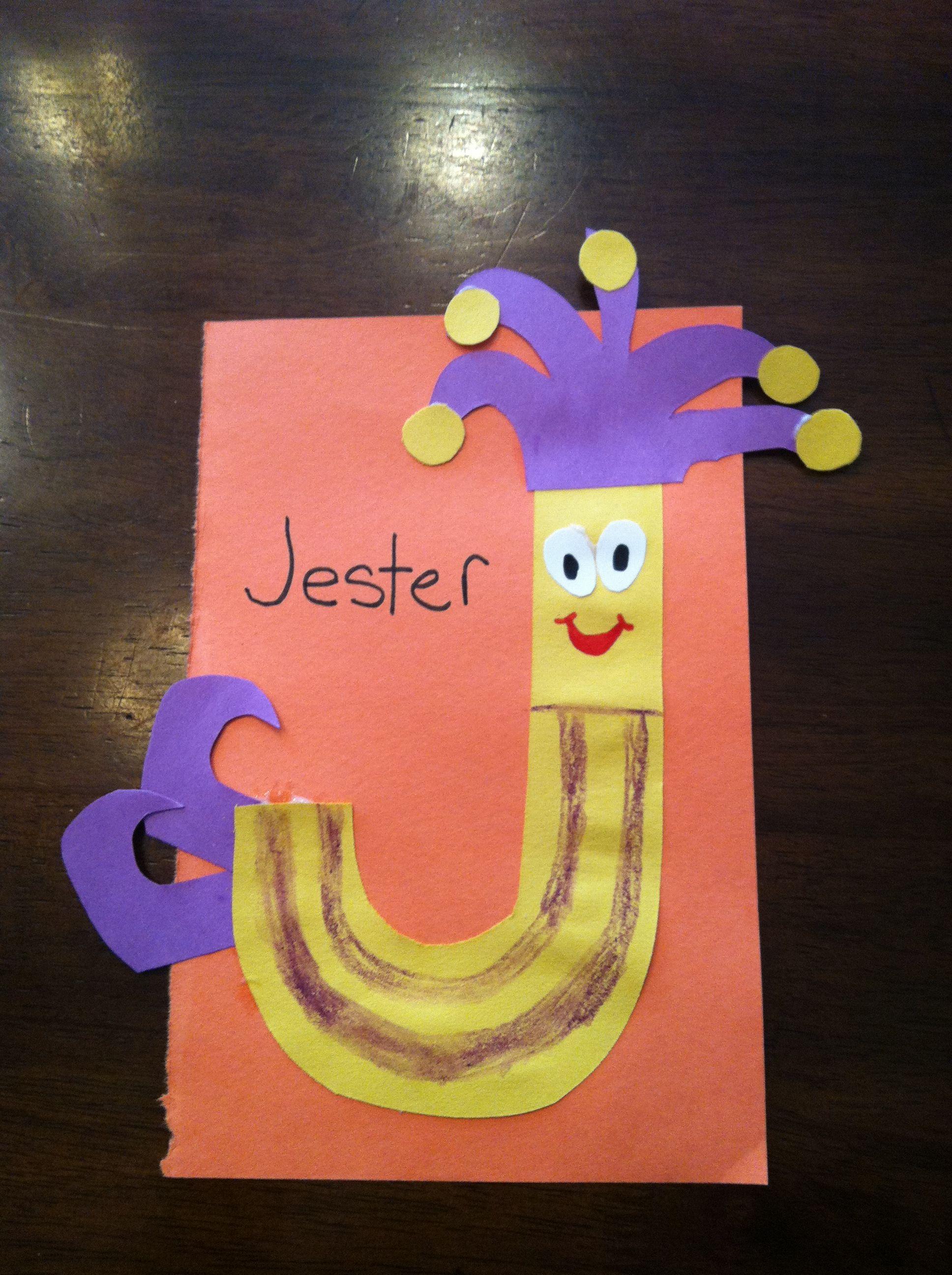 Letter J Craft J Is For Jester Alphabet Craft Letter J