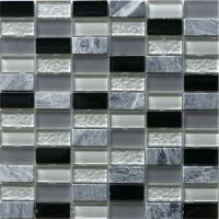 Decor8 Tiles 300 x 300 x 8mm Grey Mix Linear Mosaic Tile I ...