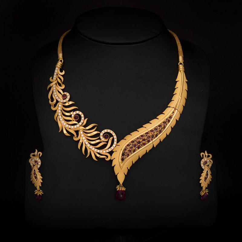 Indian Gold Necklace on Pinterest  Indian Gold Jewellery Indian Gold Bangles and South Indian