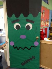 Halloween Frankenstein Door Decoration | My Classroom ...
