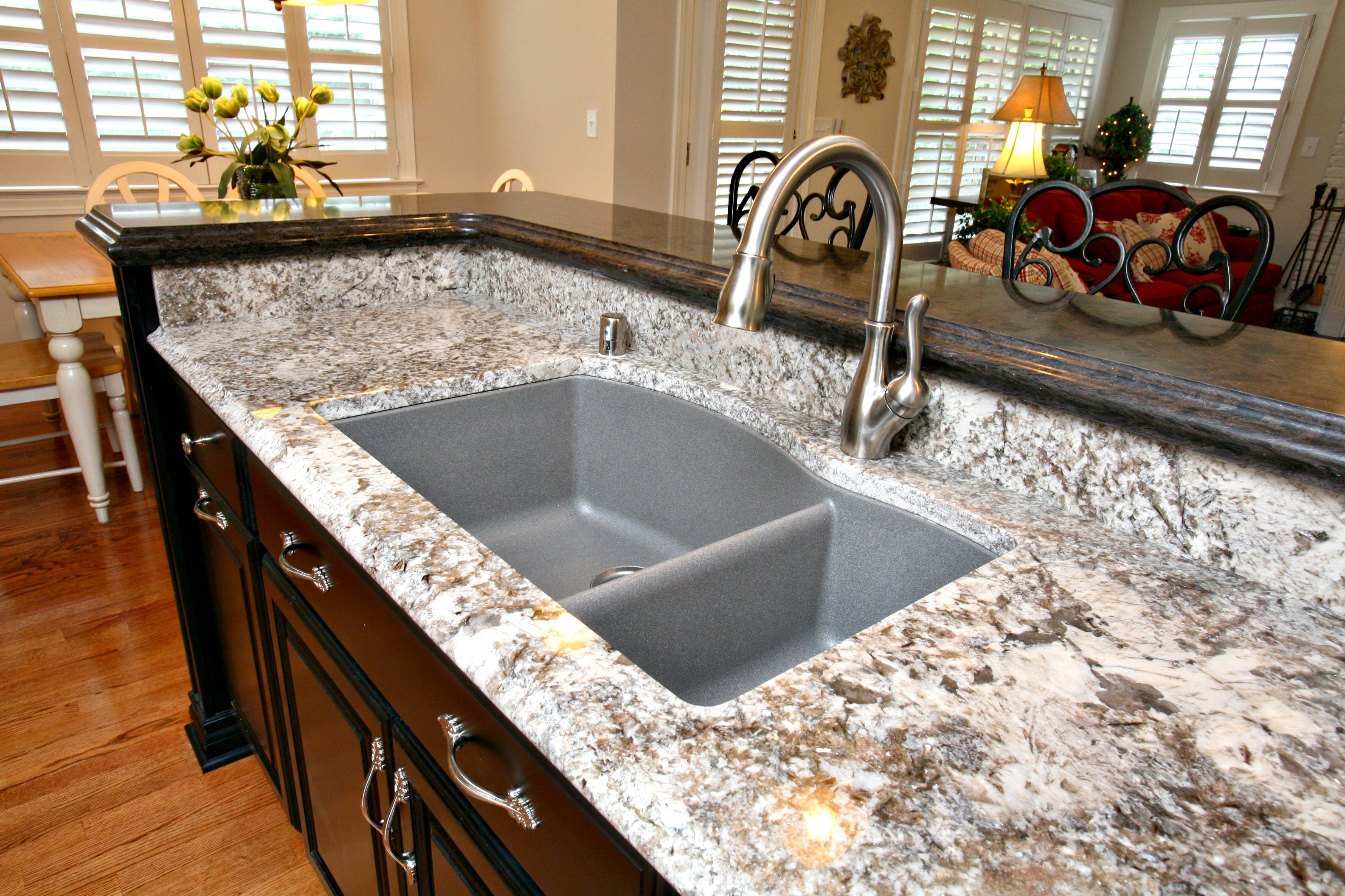 composite countertops kitchen cleveland cabinets pergaminho granite with sink agdesigns