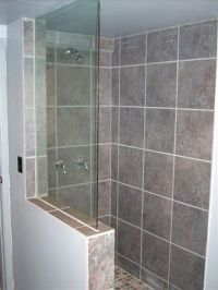 Half Wall Frameless Shower Enclosure | Frameless Glass ...