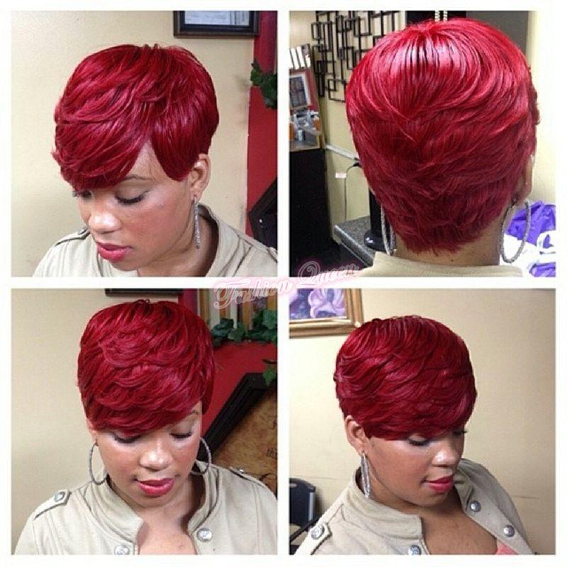 Hot Short Hair #1#1b#2#4#39J#99J Virgin Human Straight Hair 28