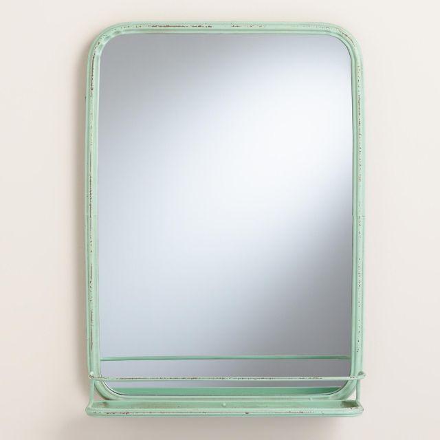 Aqua Josie Bath Mirror with Tray