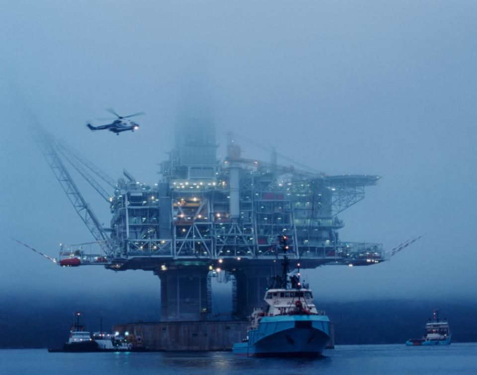 Built to withstand rogue waves and sea ice. Hibernia in #Canada is the world's heaviest #offshore #oil platform. | Petroleum | Pinterest | Oil ...