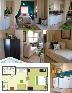 Probably one of the cutest apartments   ve seen is this that won second prize in apartment therapy  small cool contest more for use space also images about inside outside on pinterest house plans rh