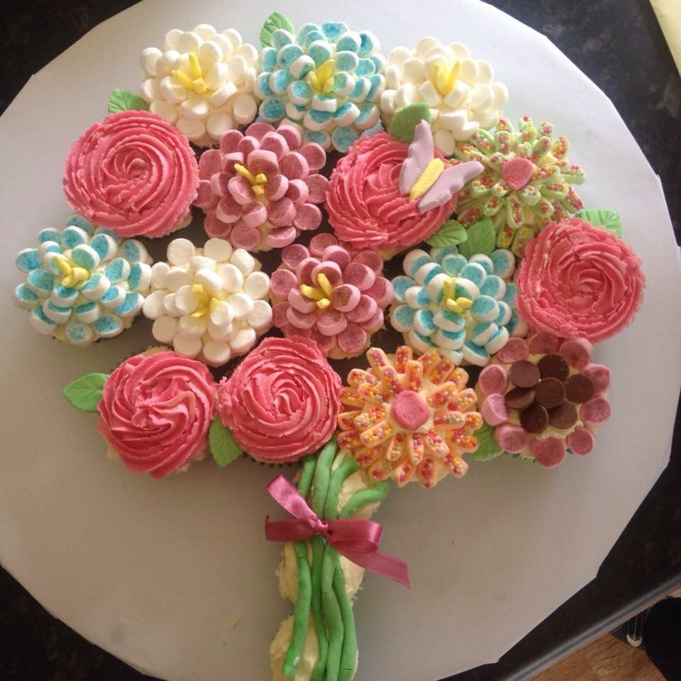 Cupcake Bouquet I Made For My Grandmothers Birthday