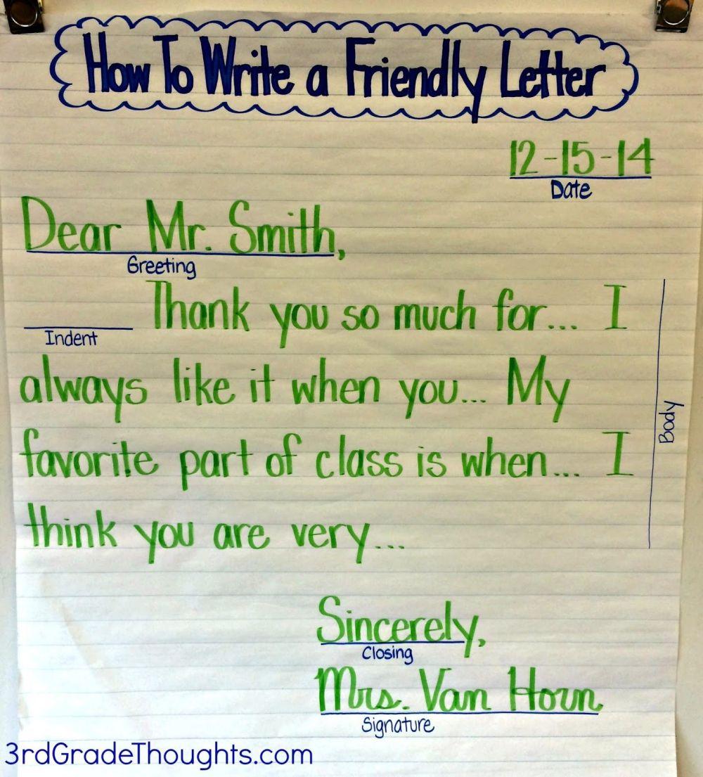 medium resolution of Friendly Letter For Kids - Letter