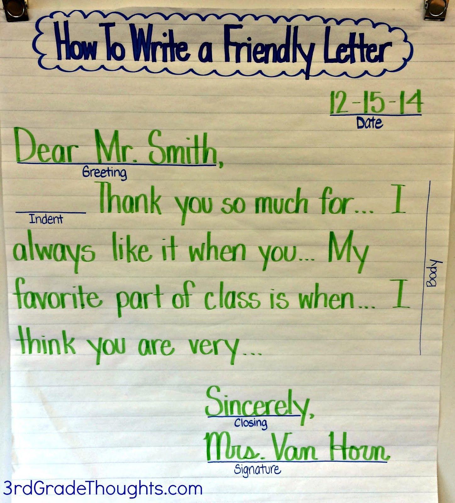 hight resolution of Friendly Letter For Kids - Letter