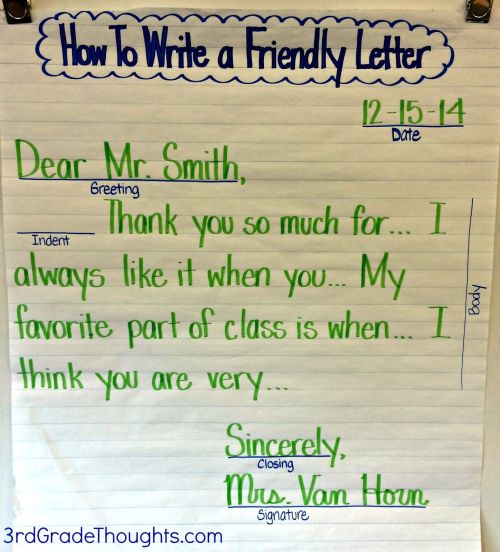 small resolution of Friendly Letter For Kids - Letter