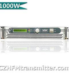 czh fm transmitter freq range rf output power 0 to 1000 watt audio input connector xlr type  [ 1000 x 1000 Pixel ]