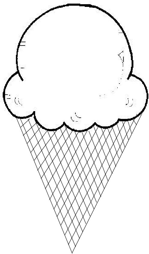 Ice cream cone templates. Help your child learn upper and