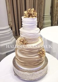 Beautiful Gold Ombre Wedding Cakes by Hall of Cakes | cake ...