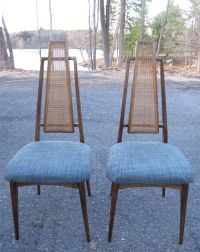 PAIR OF MID CENTURY HIGH BACK CANE DINING CHAIRS | Sold ...