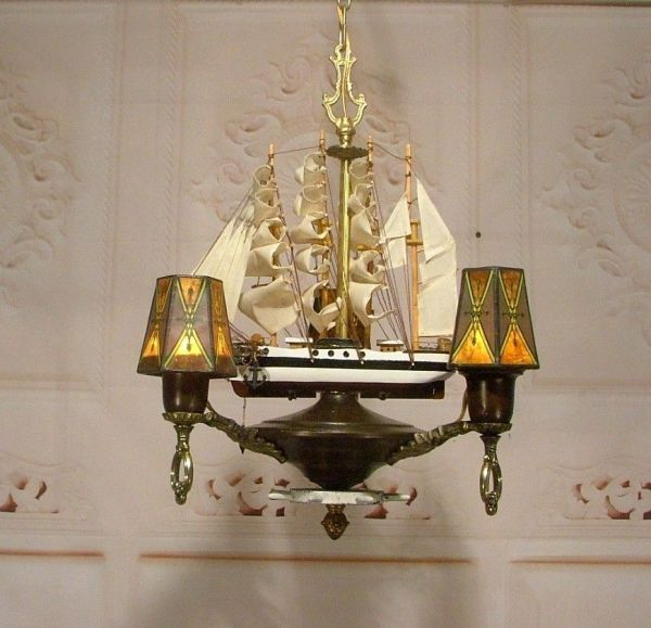 Antique Style Nautical Sailing Ship Boat Chandelier