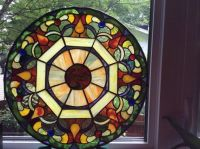 Stained Glass Mandala octogonalorange red yellow by ...