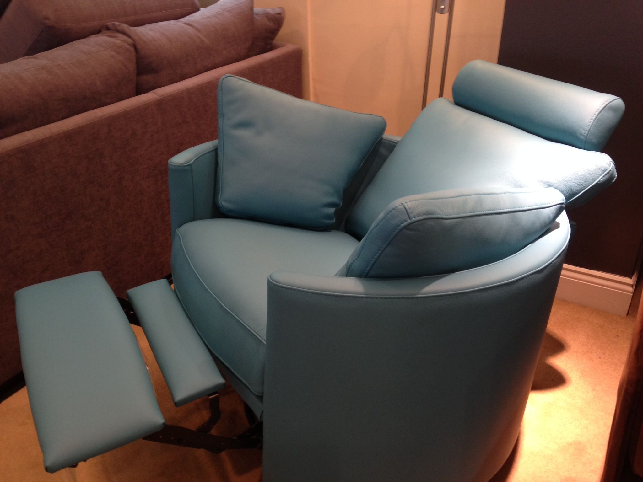 Turquoise Leather Chair Deep Turquoise Blue Leather On Our Summer 2014 Showroom