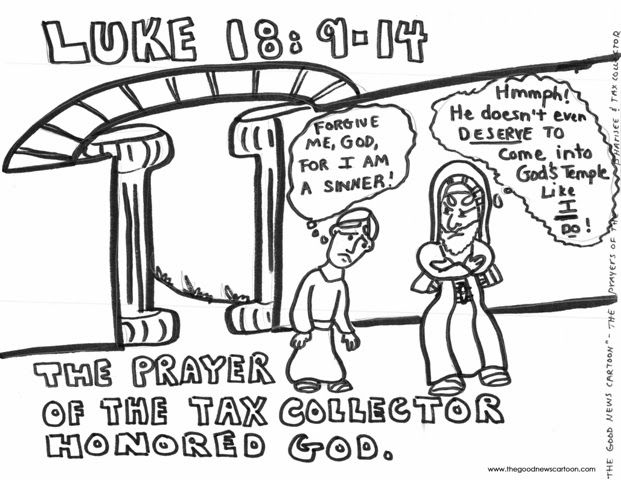 the parable of the tax collector and the pharisee for kids