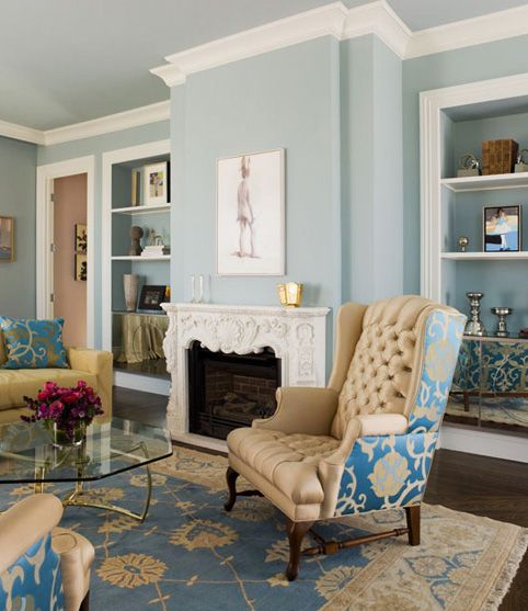 Light blue living room accent walls help choosing flooring and paint colors home decorating  design decor pinterest also rh