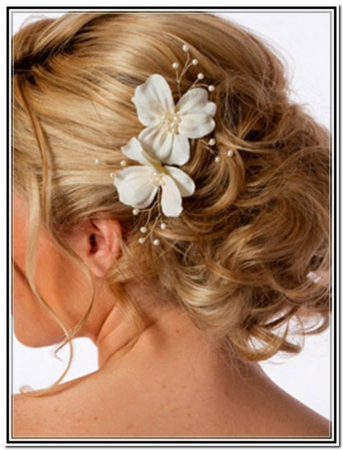 Updo Hairstyles For Weddings For Medium Length Hair Hair Color
