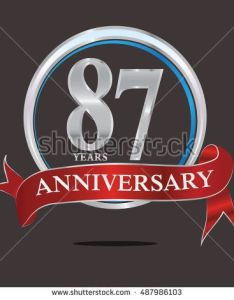 years silver anniversary logo with red ribbon for birthday celebration also rh pinterest