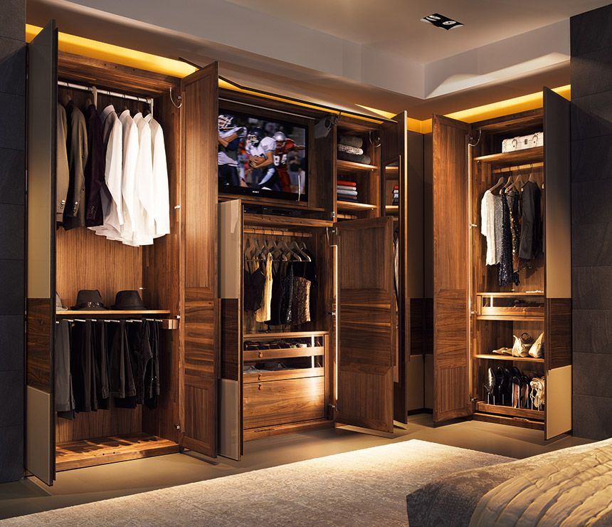 Built in wardrobe I like this better than closets  Ideas for the House  Pinterest
