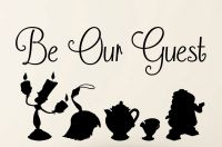 Be our Guest Beauty and the Beast wall Decal Quote and ...