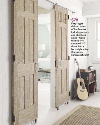 DIY 78 Dollar Sliding Barn Style Doors Similar To What Was In