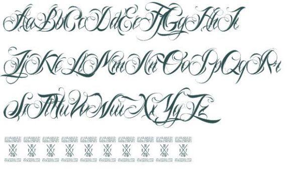 tattoo script alphabet generator