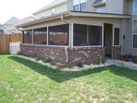 We built this screen porch with a brick base wall | Wood ...